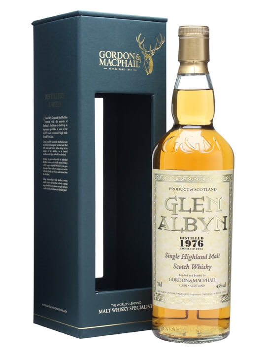 Glen Albyn 1976 / 43% / Gordon & Macphail Highland Whisky