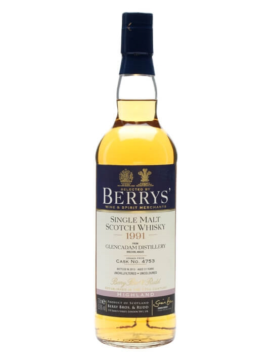 Glencadam 1991 / 21 Year Old / Cask 4753 / Berry Bros & Rudd Highland Whisky