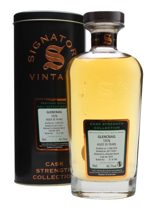 Glencraig 1976 / 35 Year Old / Cask #4255 / Signatory Speyside Whisky