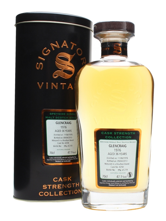 Glencraig 1976 / 36 Year Old / Cask #4258 Speyside Whisky