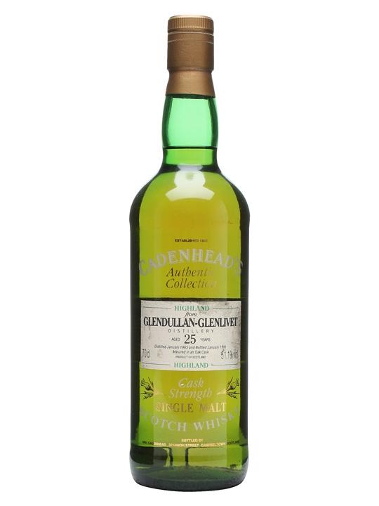Glendullan 1965 / 25 Year Old / Cadenhead's Speyside Whisky