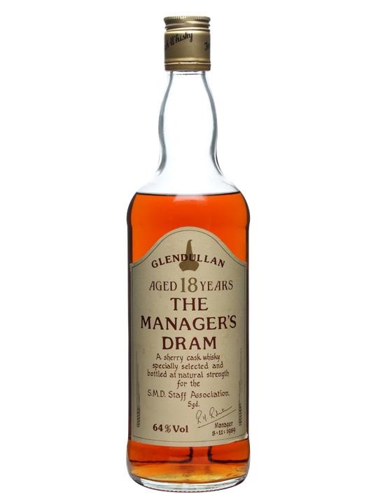 Glendullan 18 Year Old / Manager's Dram / Sherry Cask Speyside Whisky