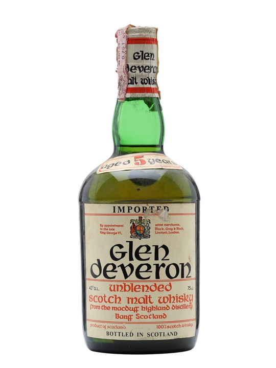 Glen Deveron 5 Year Old / Bot.1960s Speyside Single Malt Scotch Whisky