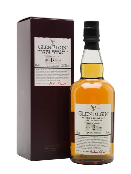 Glen Elgin 12 Year Old Speyside Single Malt Scotch Whisky