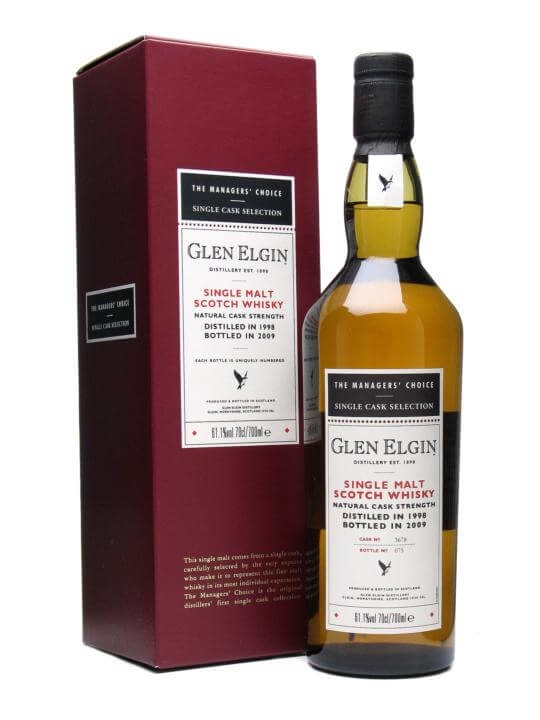 Glen Elgin 1998 / Managers' Choice Speyside Single Malt Scotch Whisky