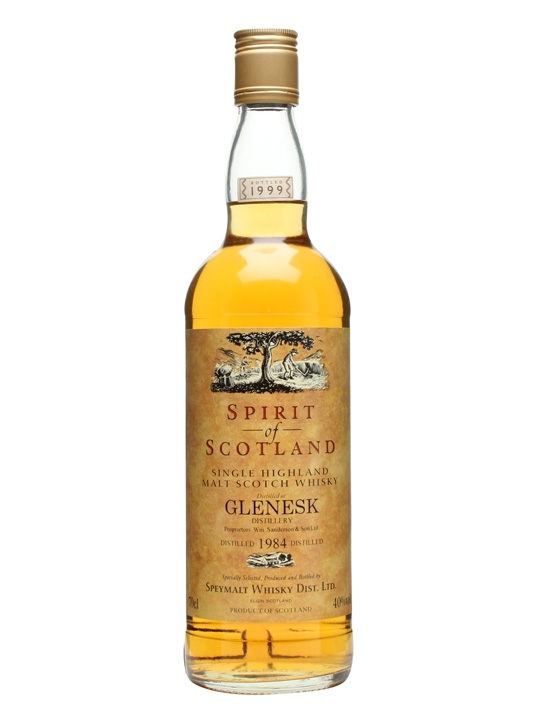 Glenesk 1984 / Speymalt / Bot.1999 Highland Single Malt Scotch Whisky