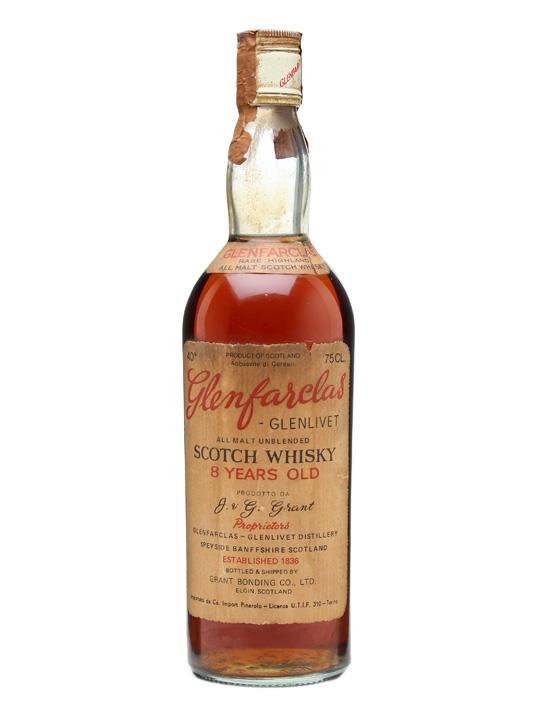 Glenfarclas-glenlivet 8 Year Old / Bot.1970s Speyside Whisky