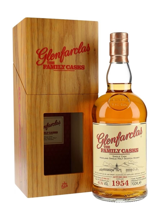 Glenfarclas 1954 / Family Casks / Wooden Box Speyside Whisky