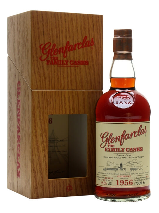 Glenfarclas 1956 / Family Casks A13 / Sherry Cask / Wood Box Speyside Whisky