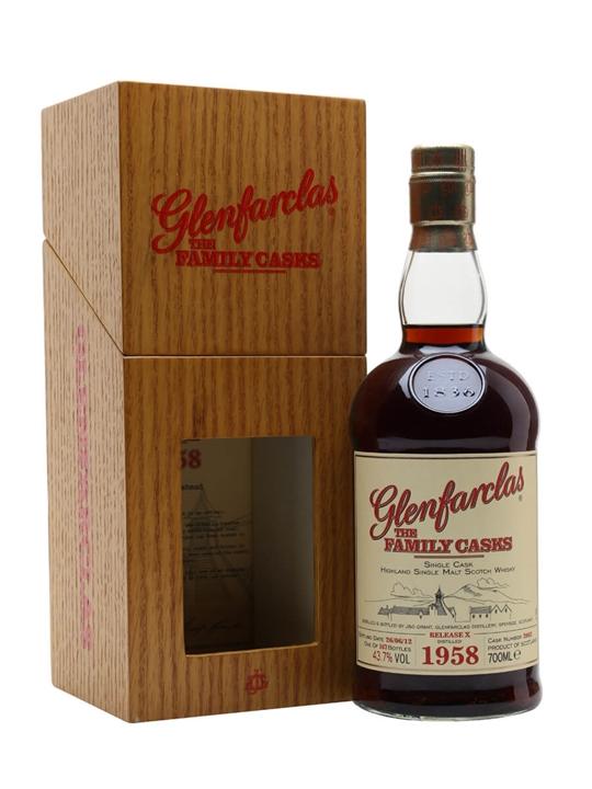 Glenfarclas 1958/ Family Casks X / Sherry Cask #2062 Speyside Whisky