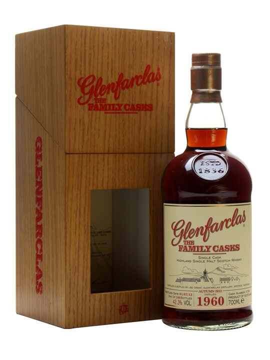 Glenfarclas 1960 / Family Casks A13 / Sherry Cask / Wood Box Speyside Whisky