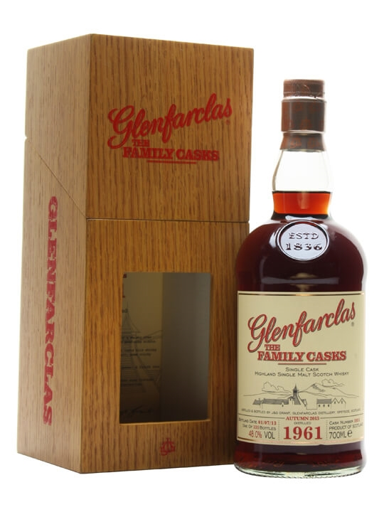 Glenfarclas 1961 / Family Casks A13 / Sherry Cask / Wood Box Speyside Whisky