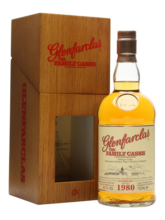 Glenfarclas 1980 / Family Casks A13 / Cask 1911 / Wooden Box Speyside Whisky