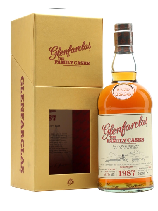 Glenfarclas 1987 / Family Casks Iii / Cask #3826 Speyside Whisky
