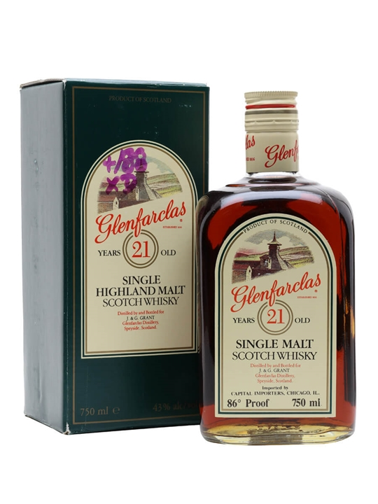 Glenfarclas 21 Year Old / Bot.1980s Speyside Single Malt Scotch Whisky