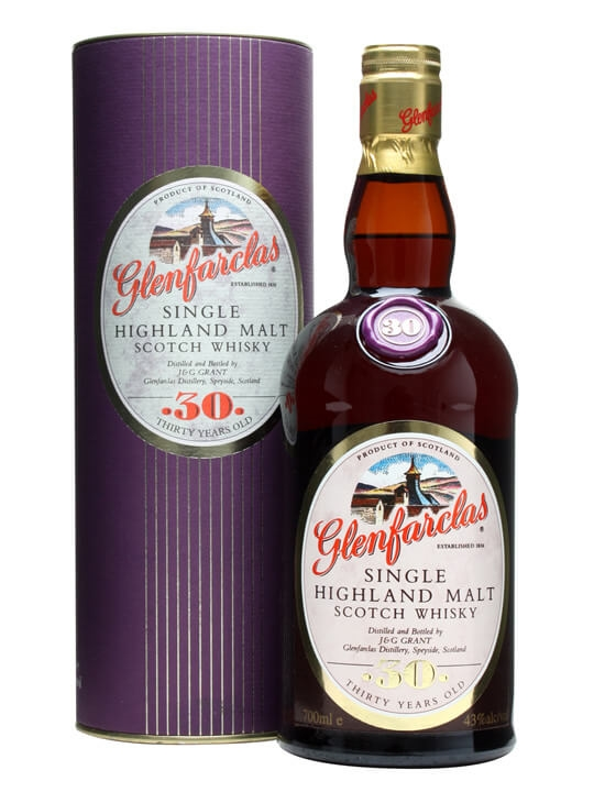 Glenfarclas 30 Year Old / Old Presentation Speyside Whisky
