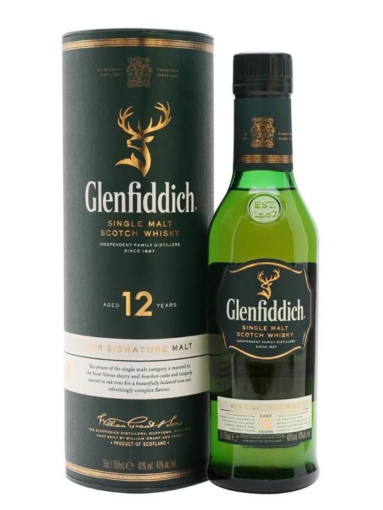 Glenfiddich 12 Year Old / Half bottle Speyside Whisky