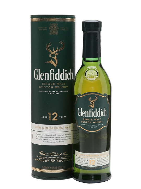 Glenfiddich 12 Year Old / Small Bottle Speyside Whisky