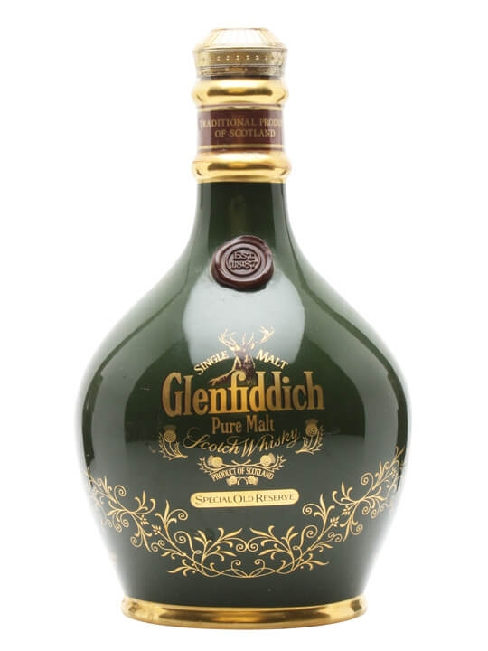 Glenfiddich 18 Year Old / Green Spode Ceramic Speyside Whisky