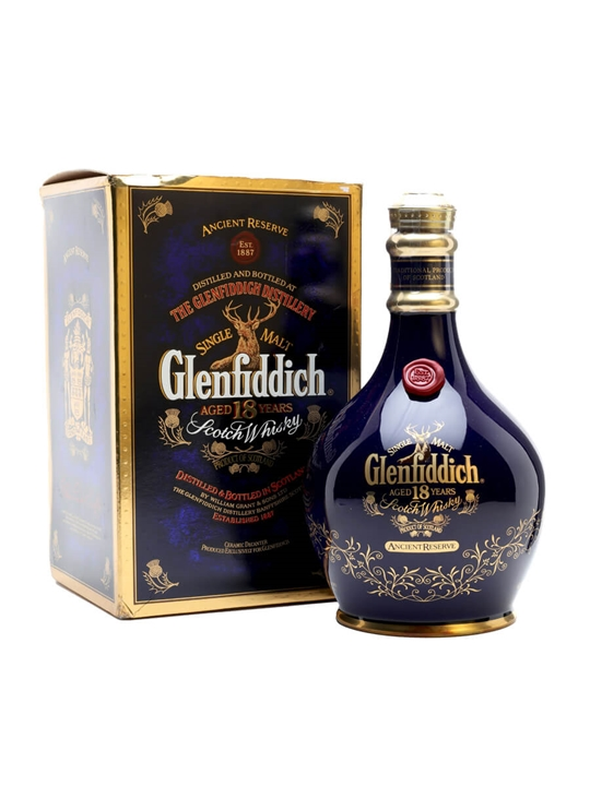 Glenfiddich 18 Year Old /  Ancient Reserve / Blue Spode Speyside Whisky