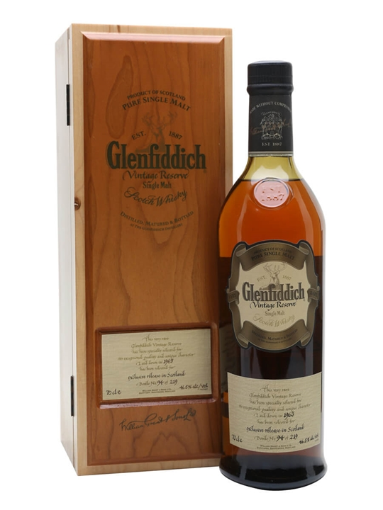 Glenfiddich 1963 / Cask #12730 Speyside Single Malt Scotch Whisky