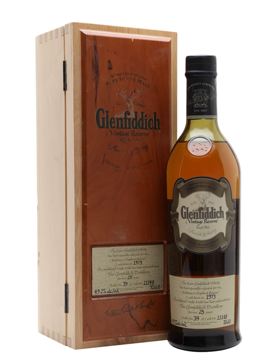 Glenfiddich 1973 / 25 Years Old Speyside Single Malt Scotch Whisky