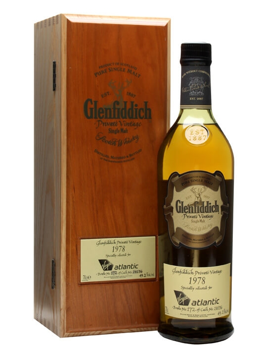 Glenfiddich 1978 Private Vintage / Virgin Atlantic Speyside Whisky