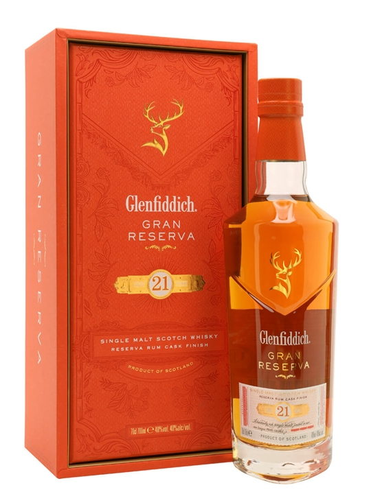 Glenfiddich 21 Year Old / Gran Reserva / Rum Cask Finish Speyside Whisky