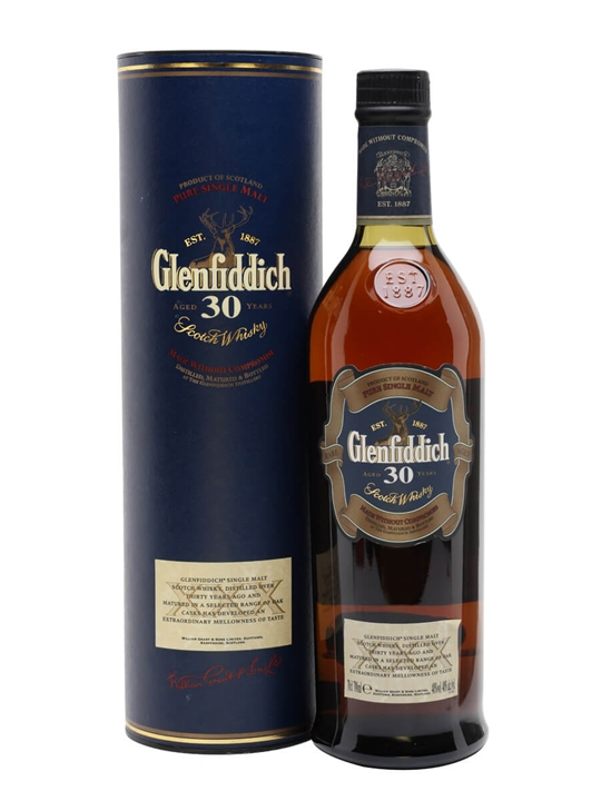 Glenfiddich 30 Year Old / Old Presentation Speyside Whisky
