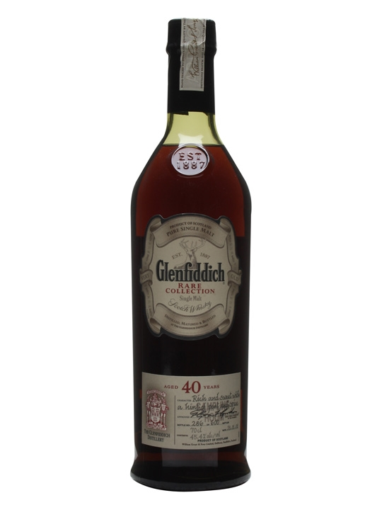 Glenfiddich 40 Year Old / Bot.2008 / Unboxed Speyside Whisky
