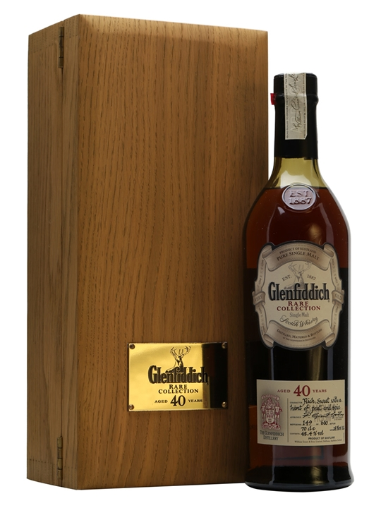 Glenfiddich 40 Year Old / Bot.2002 Speyside Single Malt Scotch Whisky