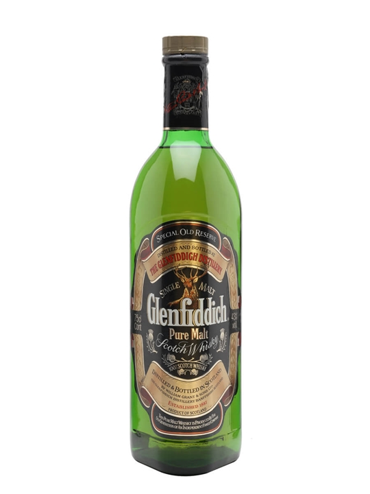 Glenfiddich Pure Malt / Special Old Reserve / Bot.1980s Speyside Whisky