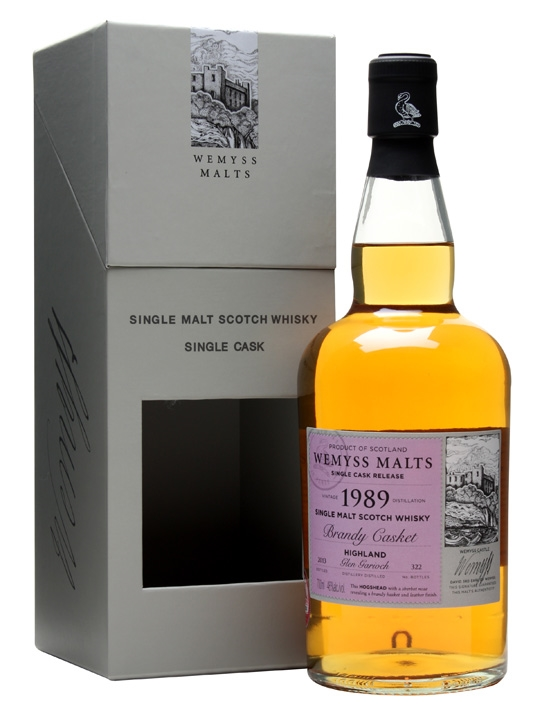 Glen Garioch 1989 / Brandy Casket / Wemyss Highland Whisky