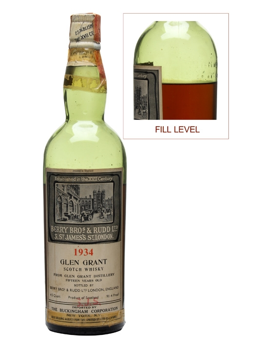 Glen Grant 1934 / 15 Year Old Speyside Single Malt Scotch Whisky