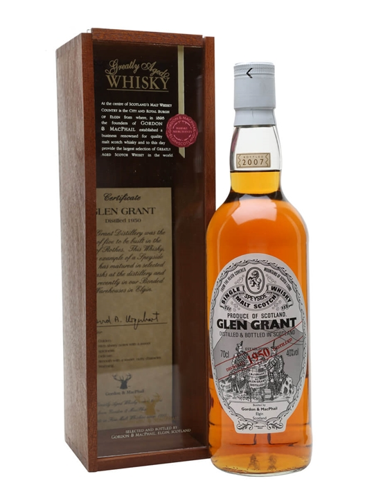 Glen Grant 1950 / Gordon & Macphail Speyside Single Malt Scotch Whisky
