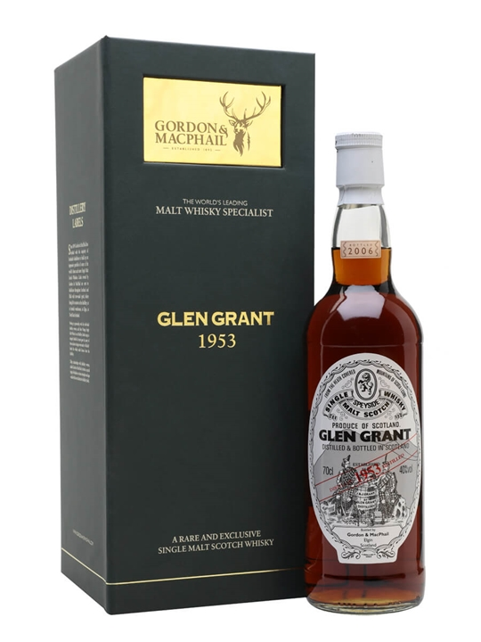 Glen Grant 1953 / Gordon & Macphail Speyside Single Malt Scotch Whisky