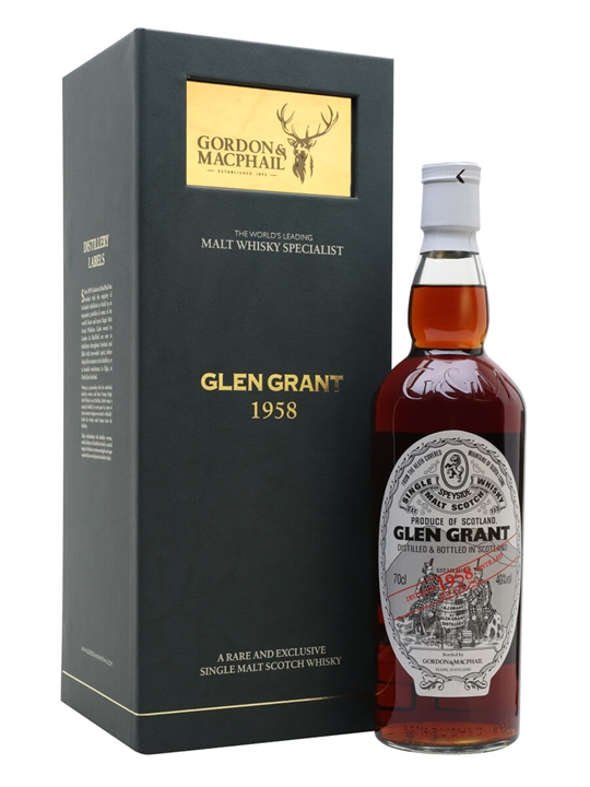 Glen Grant 1958 / Gordon & Macphail Speyside Single Malt Scotch Whisky