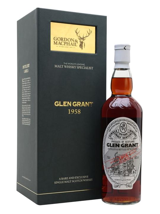 Glen Grant 1958 / Gordon & Macphail Speyside Single Malt Scotch Whisky