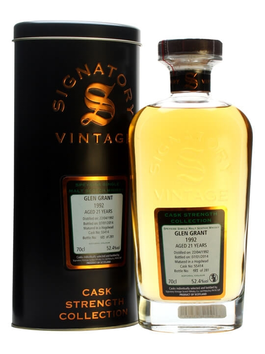 Glen Grant 1992 / 21 Year Old / Cask #55414 / Signatory Speyside Whisky