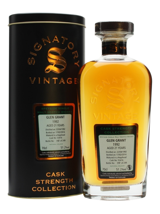 Glen Grant 1992 / 21 Year Old / Signatory Speyside Whisky