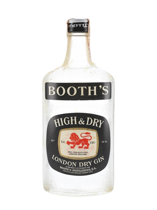 Booth's High & Dry Gin / Bot.1980s