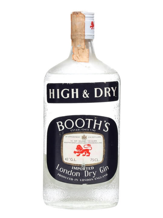 Booth's High & Dry Gin / Bot.1970s