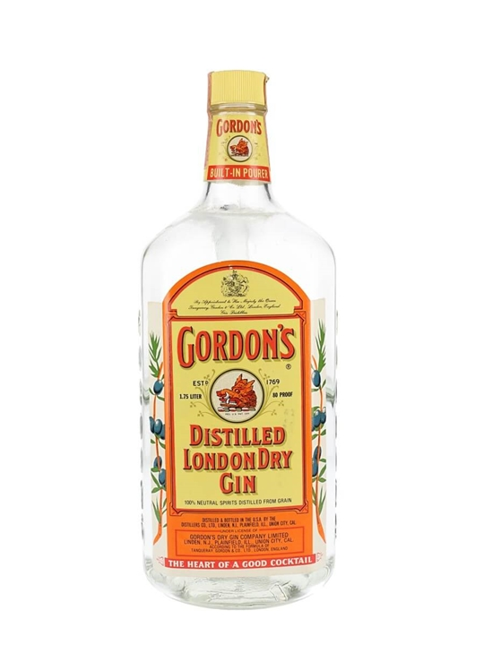 Gordon's London Dry Gin / Bot.1980s