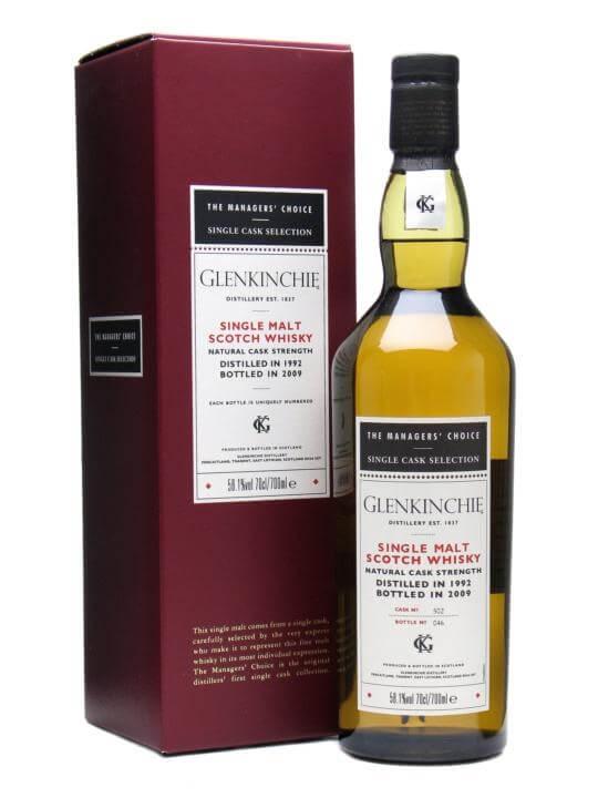 Glenkinchie 1992 / Managers' Choice Lowland Single Malt Scotch Whisky