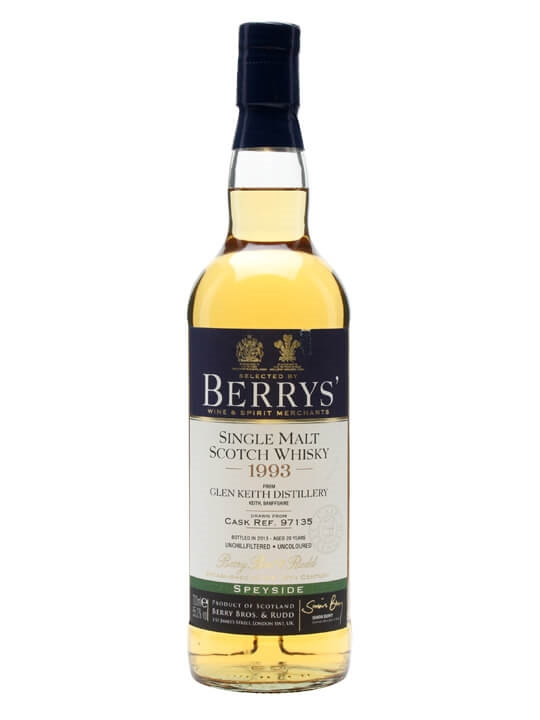 Glen Keith 1993 / Cask #97135 / Berry Brothers Speyside Whisky