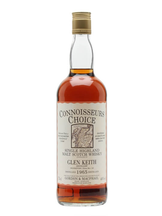 Glen Keith 1965 / Map Label / Connoisseurs Choice Speyside Whisky