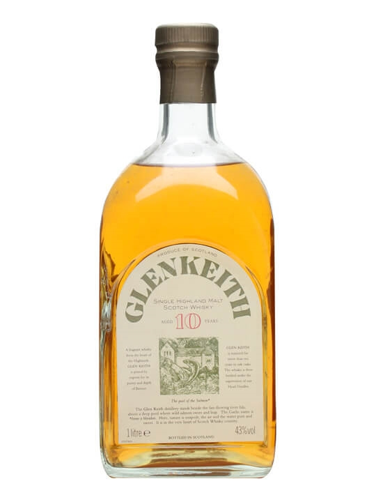 Glen Keith 10 Year Old / Litre Bottle Speyside Whisky