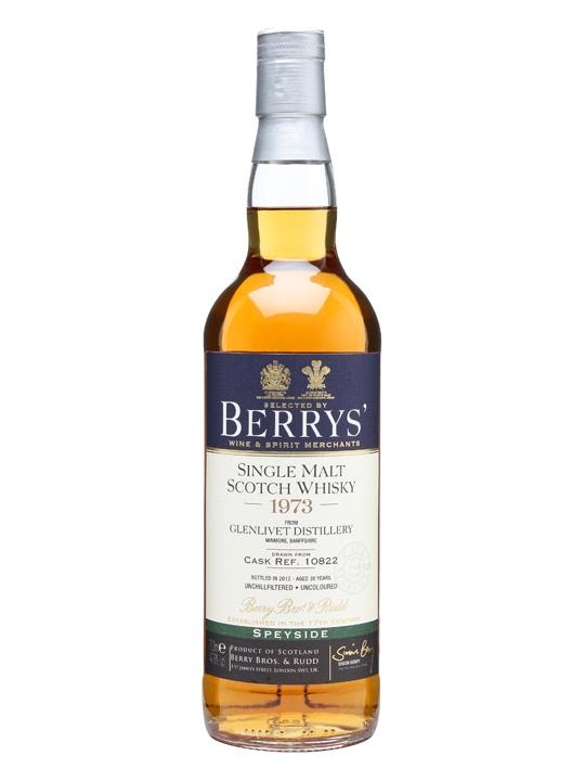Glenlivet 1973 / Bot.2012 / Cask #10822 / Berry Brothers Speyside Whisky