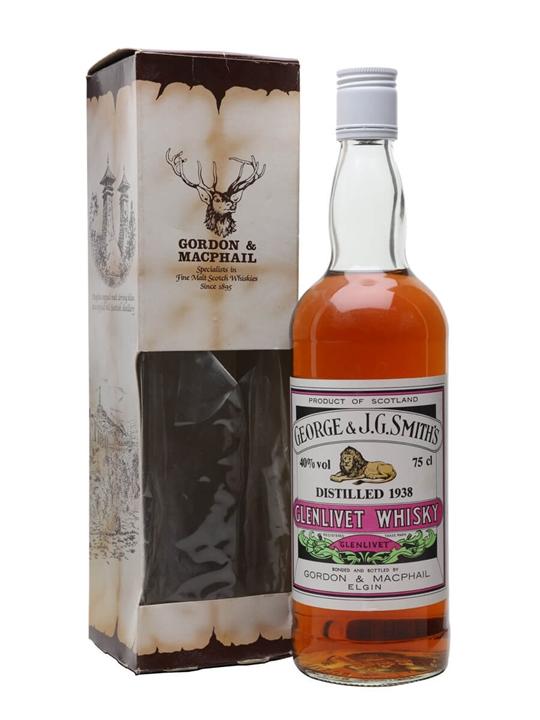 Glenlivet 1938 / Bot.1980s / Gordon & Macphail Speyside Whisky