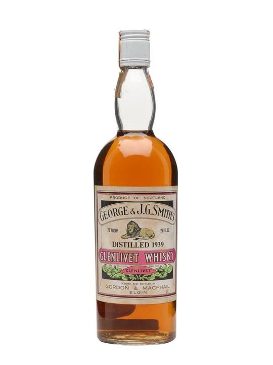 Glenlivet 1939 / Bot.1970s / Gordon & Macphail Speyside Whisky